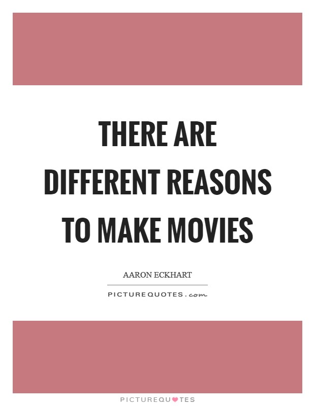 there are many different reasons as