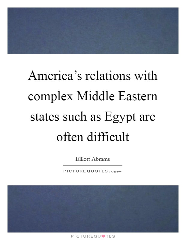 egypt and american relationship