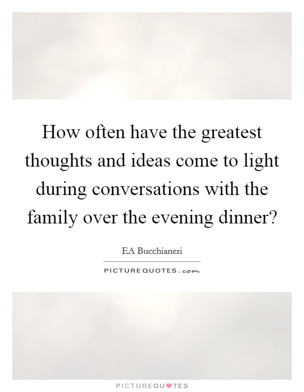 Dinner and family quotes