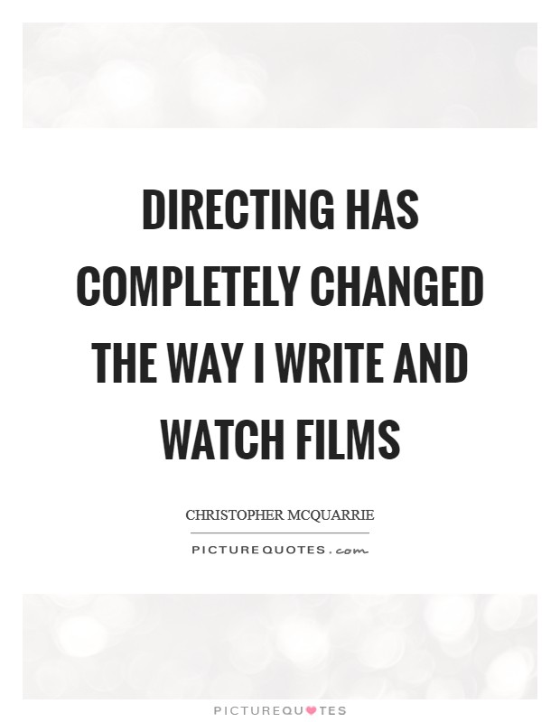 Writing, Producing, and Directing Movies