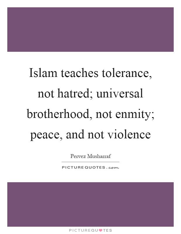 essay on tolerance and brotherhood