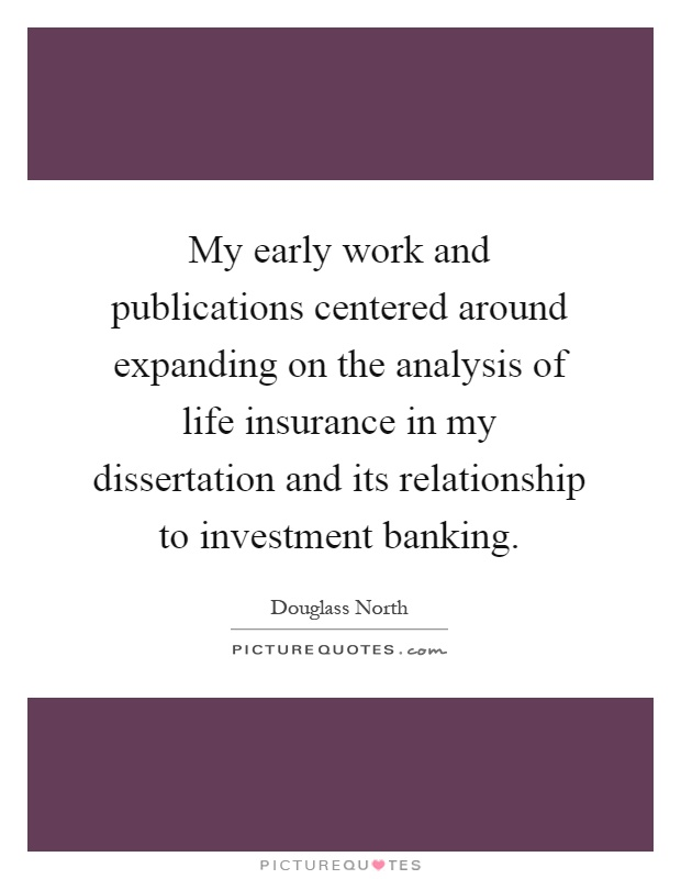Dissertation On Banking And Investment