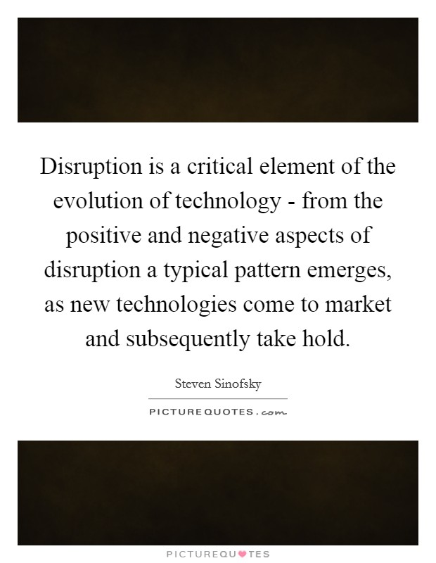 negative disruptions