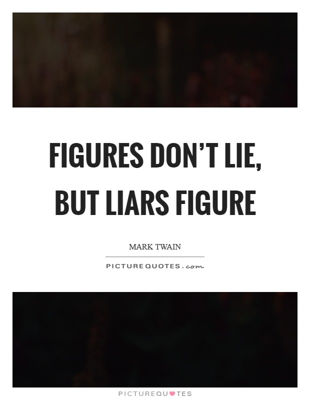 Figures don't lie, but liars figure Picture Quote #1