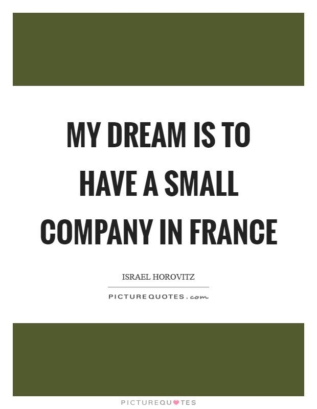 Infosys is my dream company