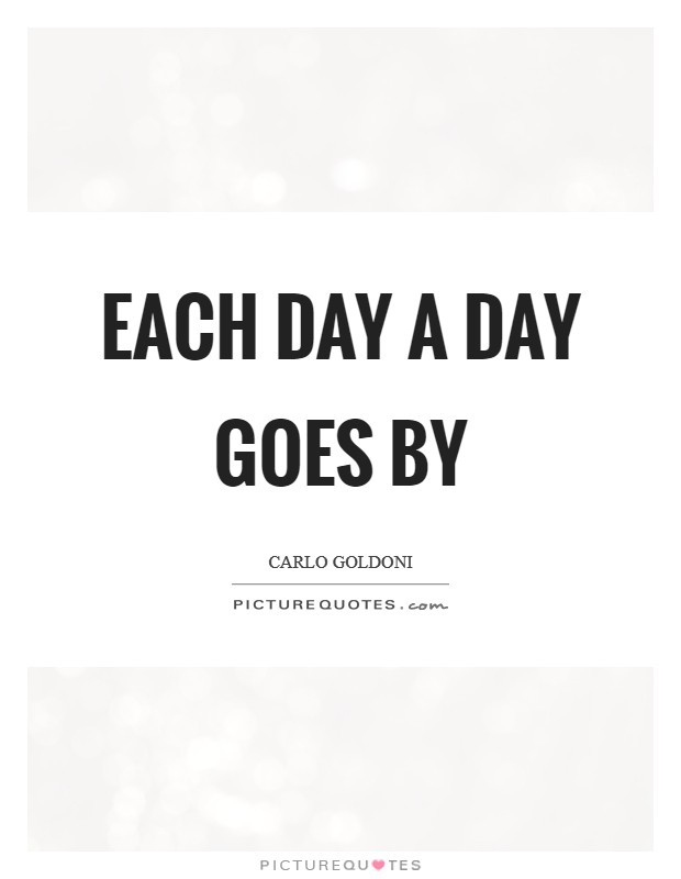 Each day a day goes by Picture Quote #1