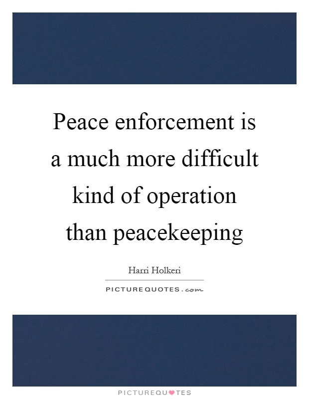 Peace enforcement