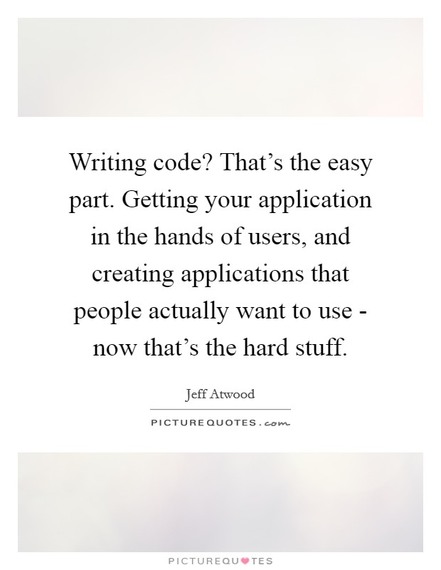 code writing applications