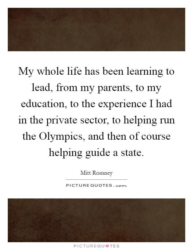 Describing Interesting Personal or Educational Experiences