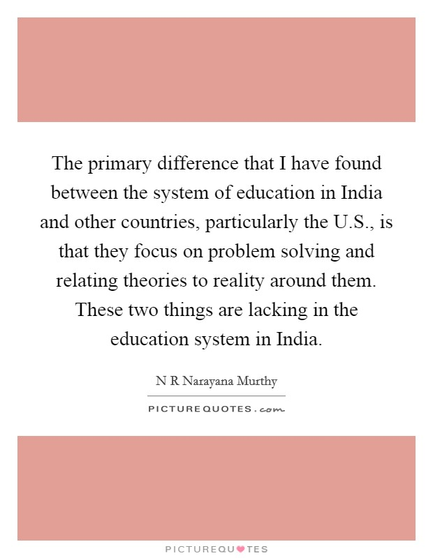 the difference between the education system As part of the study communalities and differences between the european and  chinese higher education systems have been identified and discussed.