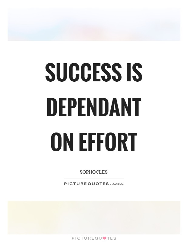 Success is dependant on effort Picture Quote #1