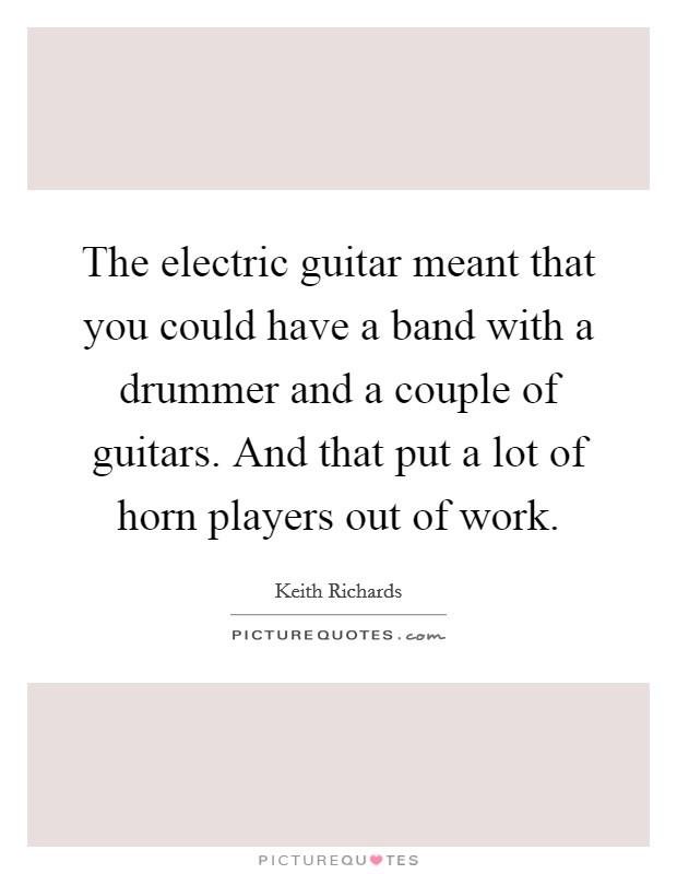 electric guitars band