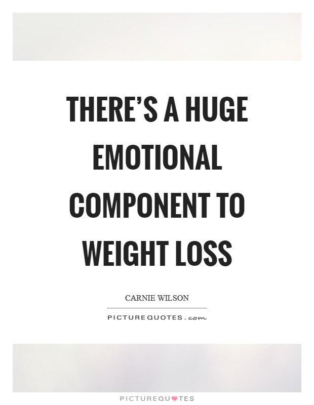 There's a huge emotional component to weight loss Picture Quote #1