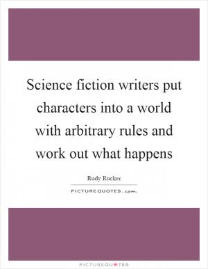 Science fiction author quotes
