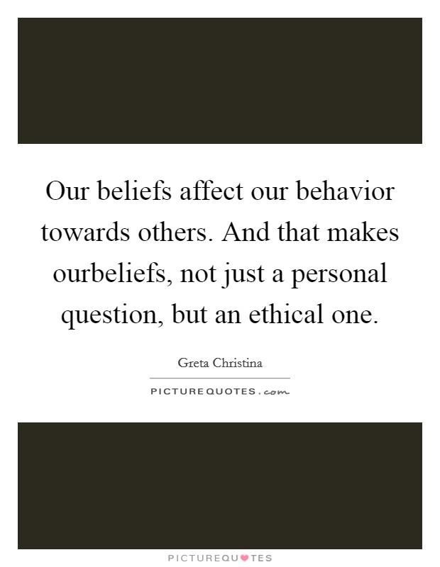 Attitides beliefs and behavior towards animal