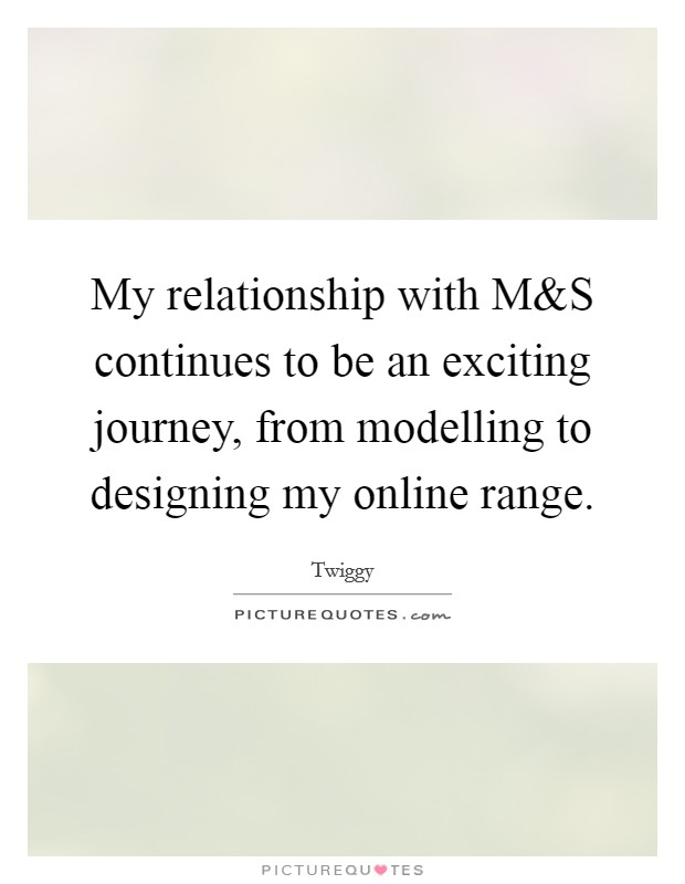 My relationship with M Picture Quote #1