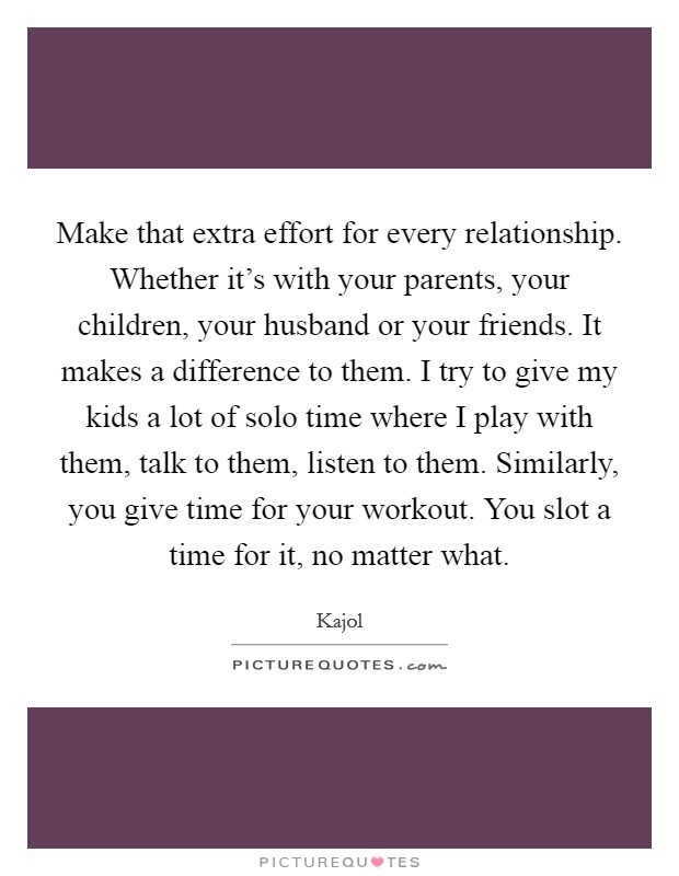 A relationship is what effort in 36 Inspiring
