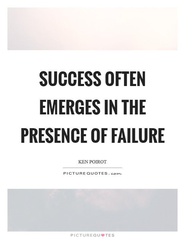 Success often emerges in the presence of failure Picture Quote #1