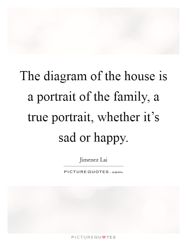 The diagram of the house is a portrait of the family, a true portrait, whether it's sad or happy Picture Quote #1