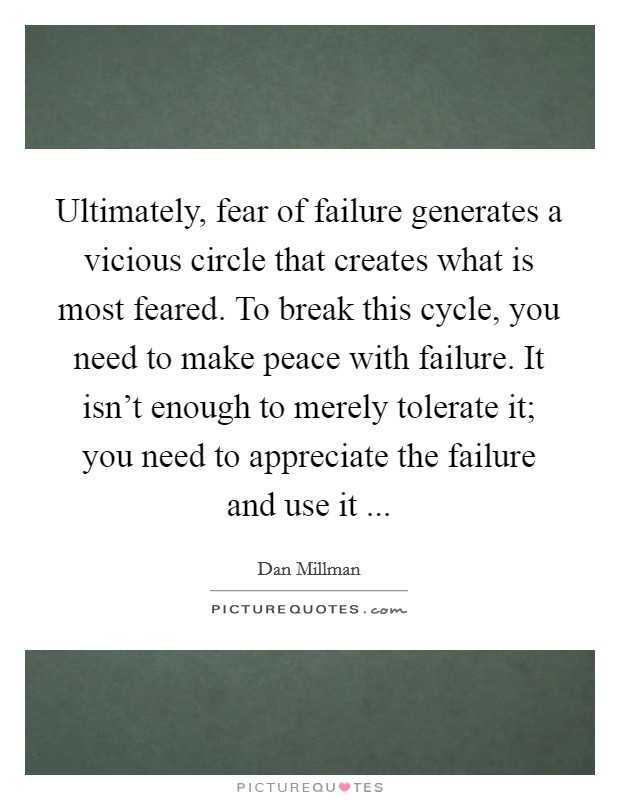 Break the vicious cycle