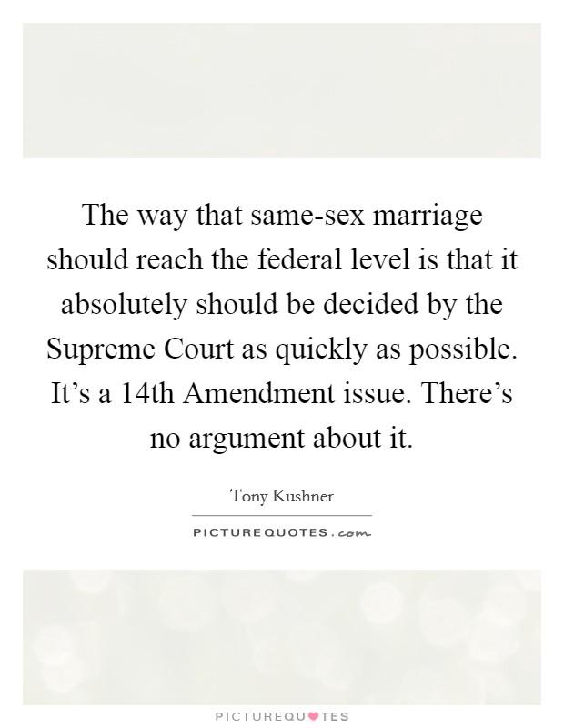 Amendment marriage ninth same sex
