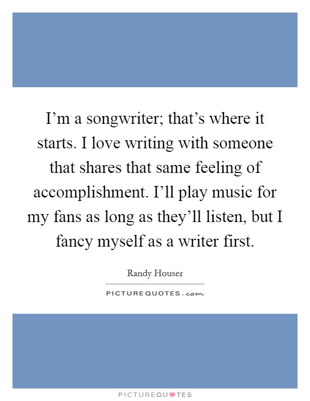 Ill write a song for you composer