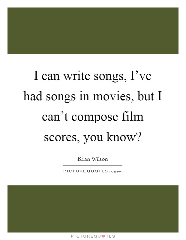 how do you write a film score