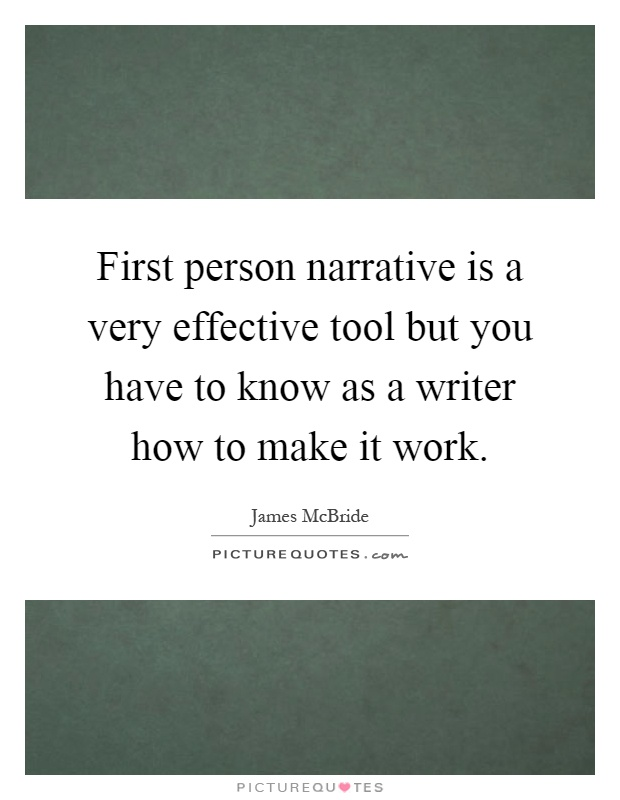 how to start a first person narrative