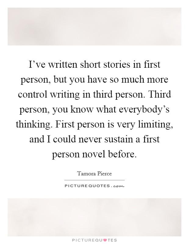 first person narrative essay