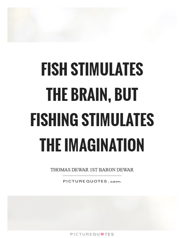 Fish stimulates the brain, but fishing stimulates the imagination Picture Quote #1