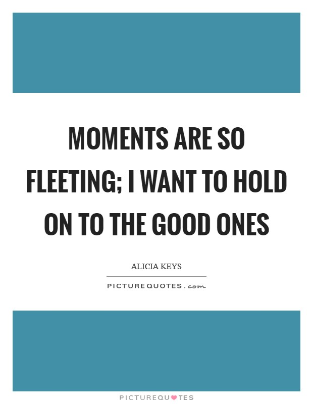 Moments are so fleeting; I want to hold on to the good ones Picture Quote #1