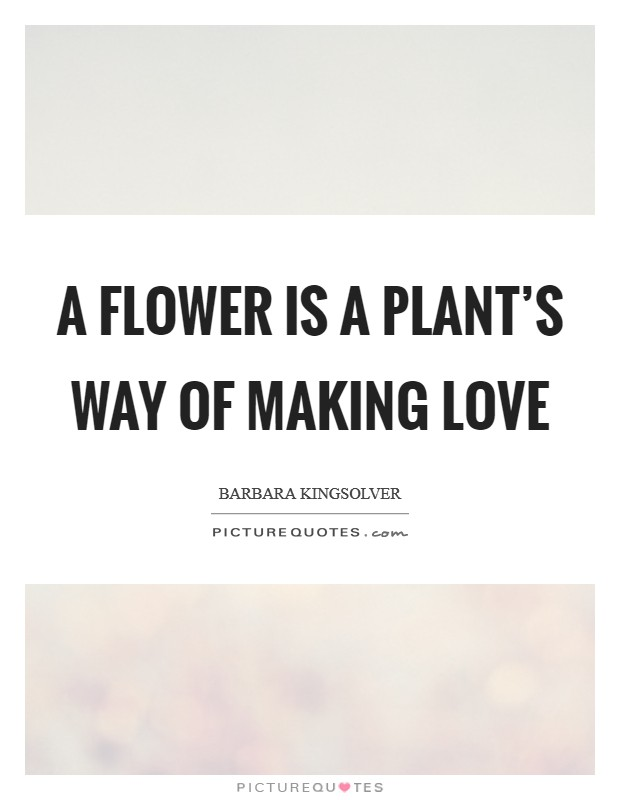 A flower is a plant's way of making love Picture Quote #1