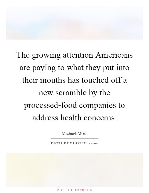 Health concerns of processed foods essay