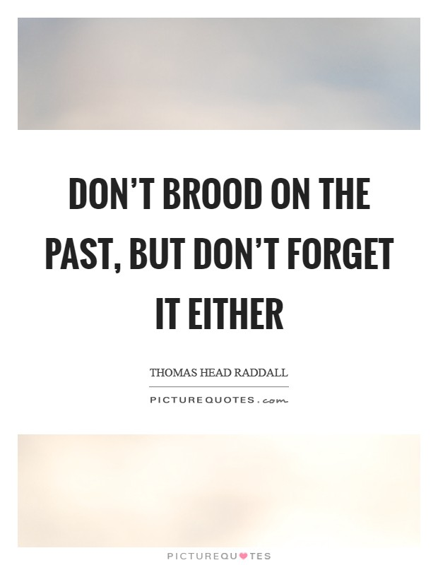 Don't brood on the past, but don't forget it either Picture Quote #1