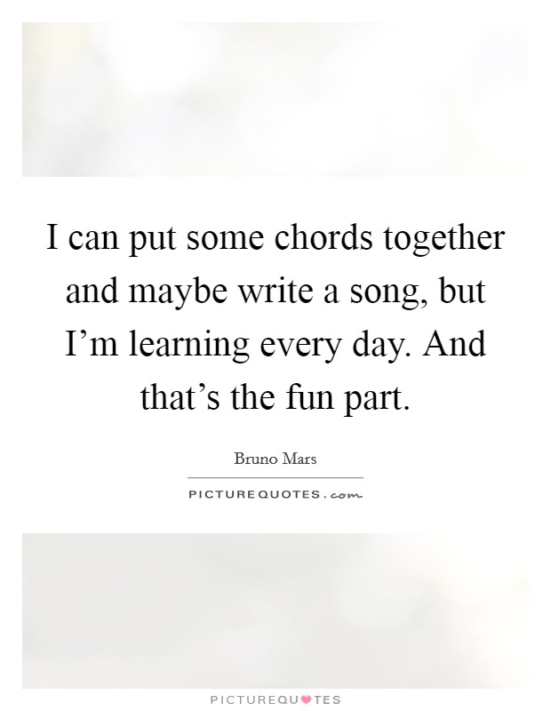 maybe one day i can write a song