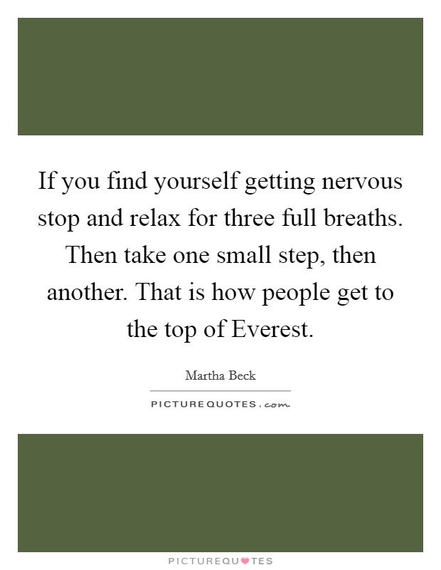 How To Stop Yourself From Getting Nervous