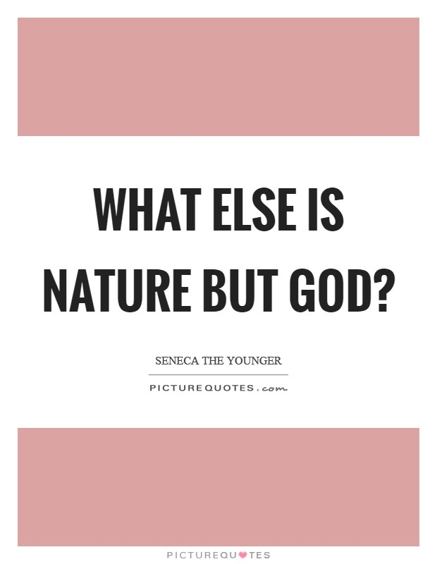 What else is nature but God? Picture Quote #1