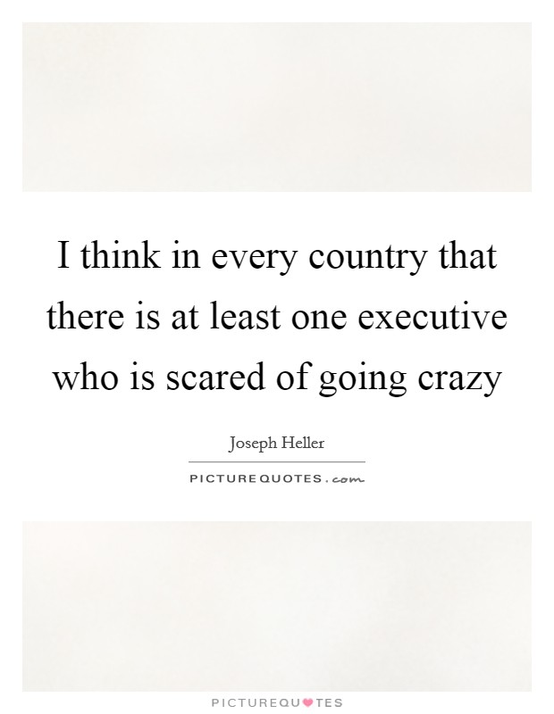 I think in every country that there is at least one executive who is scared of going crazy Picture Quote #1