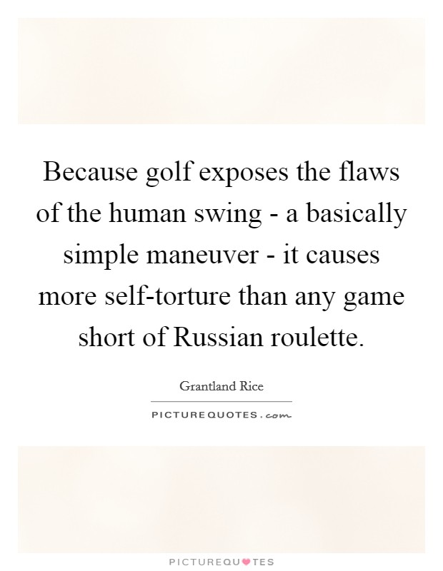 Russian roulette golf