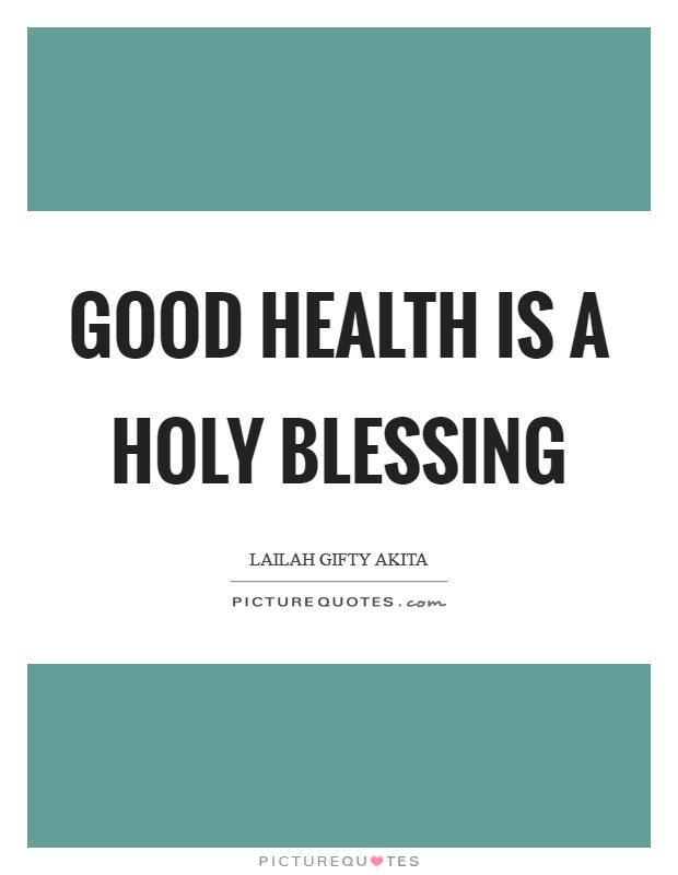 essay on good health is a blessing