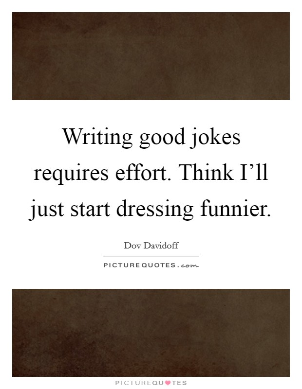 Start an essay with a joke