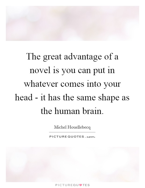 The great advantage of a novel is you can put in whatever comes into your head - it has the same shape as the human brain Picture Quote #1
