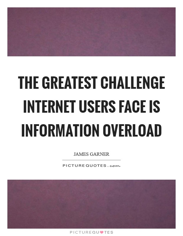 The greatest challenge Internet users face is information overload Picture Quote #1