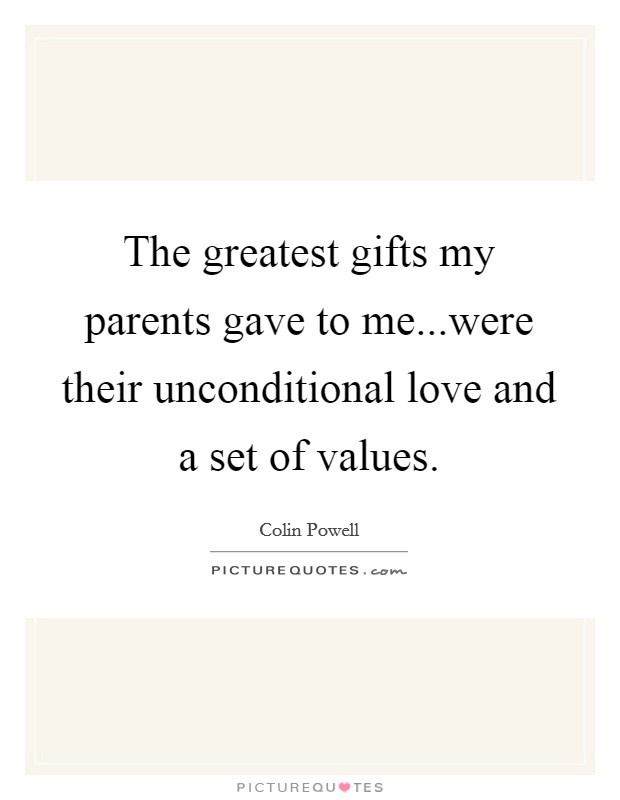 a description of a hard working and responsible sons unconditional love to parents I find the distinction between unconditional love and selfless love to be of the most interest here it seems that selfless acts of love, and a general selfless disposition with regards to those closest to us is an amazing way to approach a relationship.