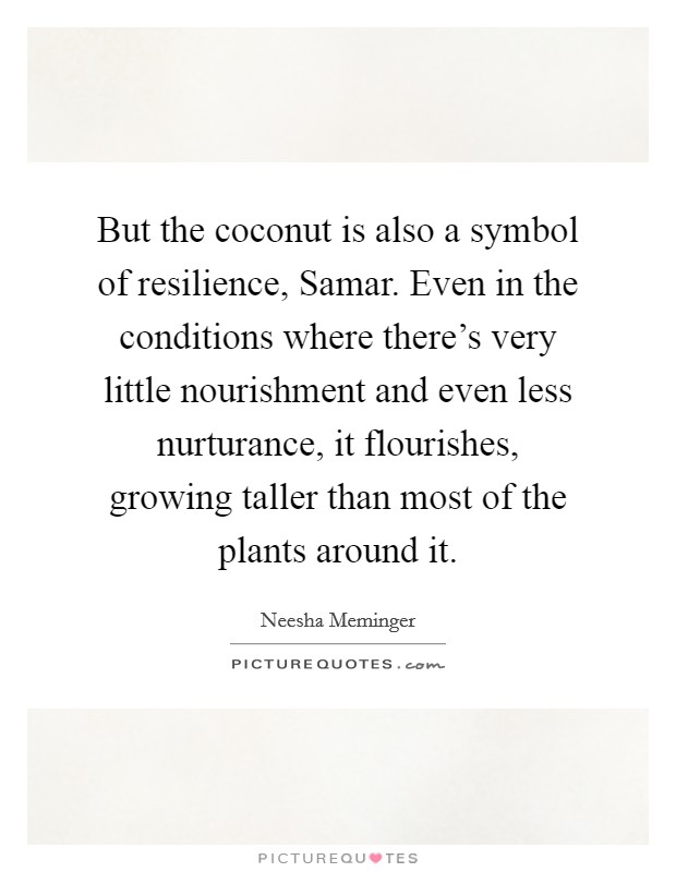 But The Coconut Is Also A Symbol Of Resilience Samar Even In
