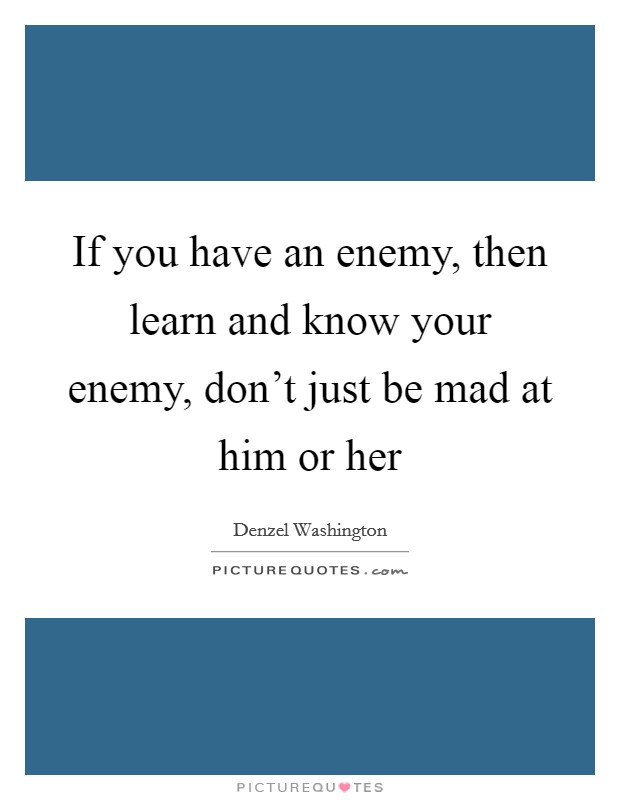 how to know your enemy