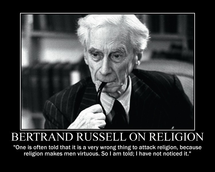 Bertrand Russell Quote On Religion 1 Picture Quote #1