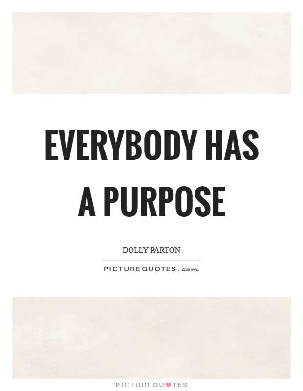 Everybody has a purpose Picture Quote #1