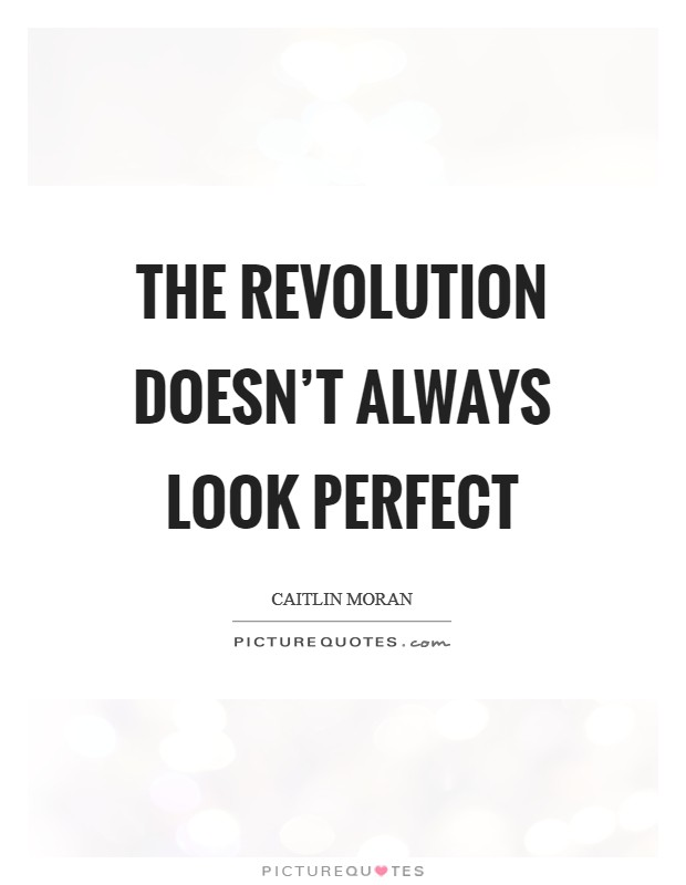 The revolution doesn't always look perfect Picture Quote #1