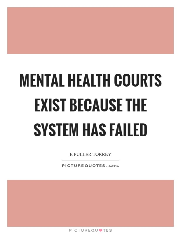 Mental health courts exist because the system has failed Picture Quote #1